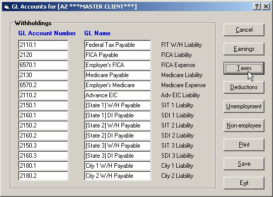 How to Edit the General Ledger Account List