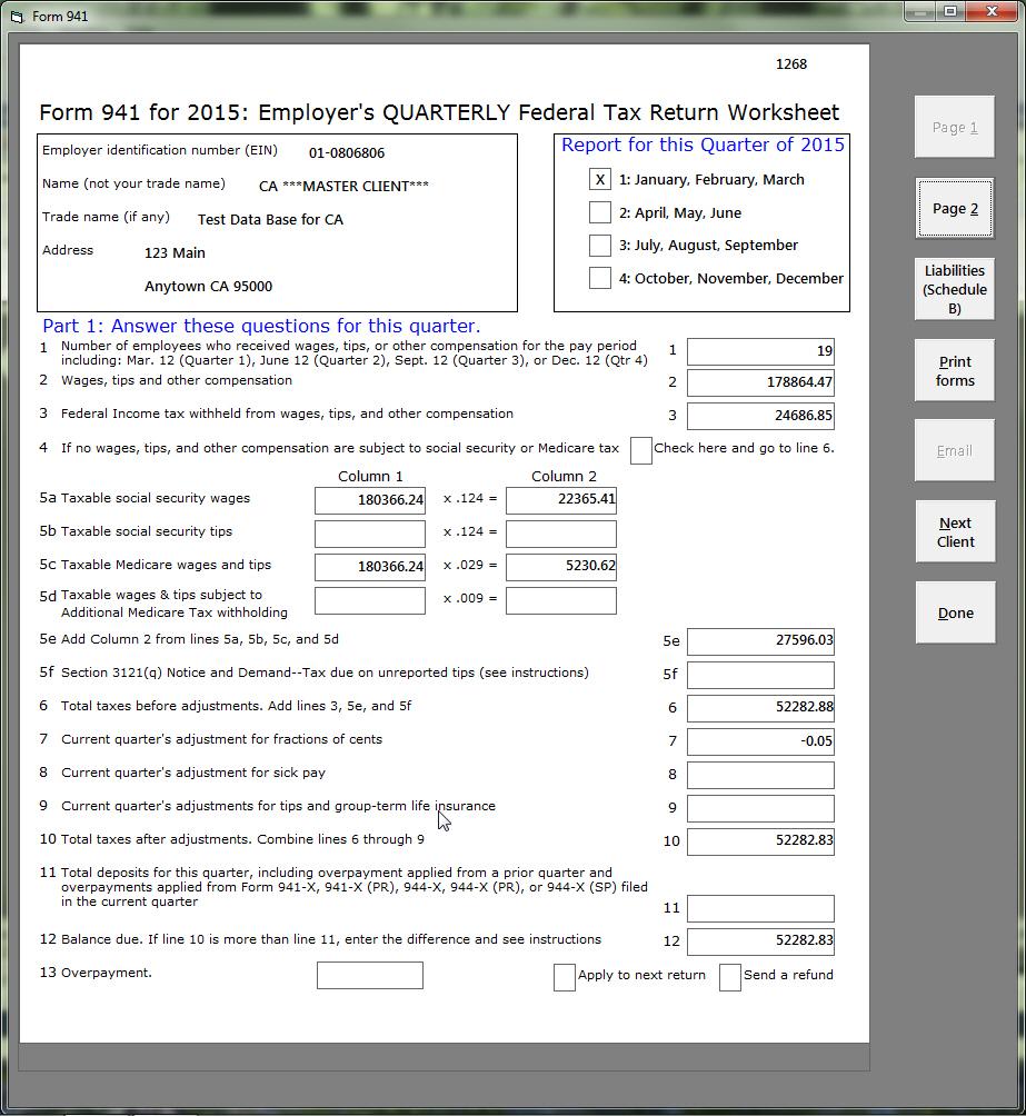 Eftps worksheet form