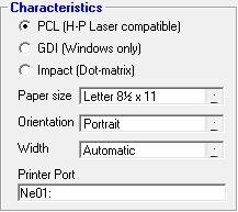 The Graphics Ability Appears As Impact Dot Matrix PCL Or GDI Industrial Strength Payroll Reads This Information From Driver That Is Installed For